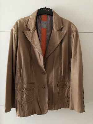 Livelo Leather Blazer camel