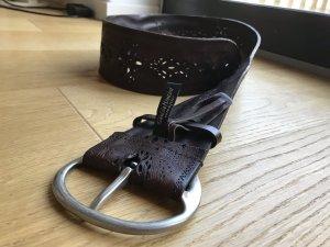 Cinturón de cuero marrón oscuro Cuero