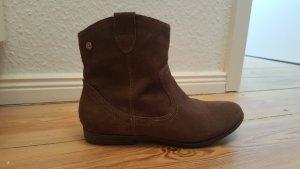 Echt Leder Boots Stiefeletten braun Größe 38 Xti