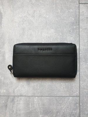 Bugatti Wallet black-silver-colored leather