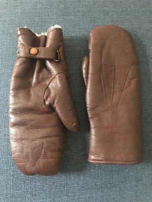 Echt Leder Handschuhe/ Fäustlinge