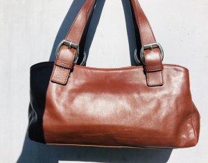 Echt Leder Handtasche in braun von der Marke LOUBS