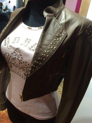 Echt Leder Jacke *Bolero Style * Gr. 34/36 von Kor@Kor