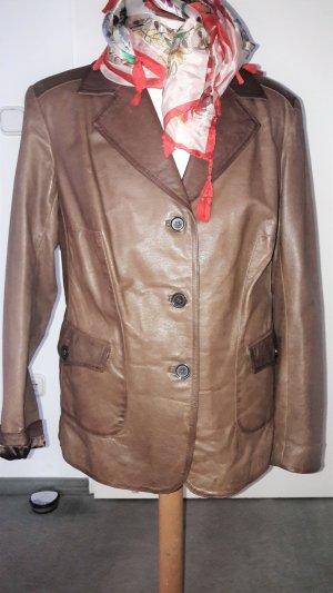 Leather Blazer brown-light brown