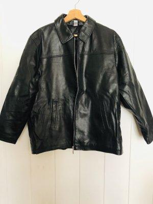 Echt Leder Jacke schwarz