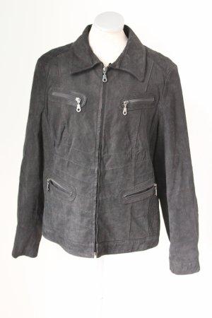 Echt Leder Jacke schwarz Gr. 44 46 L XL schwarz gothic