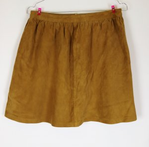 Benetton Leather Skirt multicolored leather