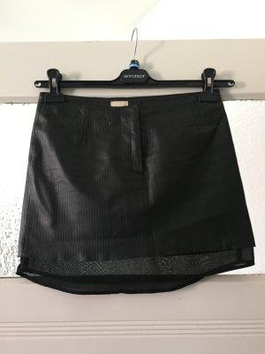Echt Leder Minirock schwarz