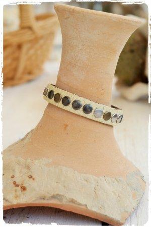 Echt - Leder Nieten Armband aus used Leder aus Ibiza