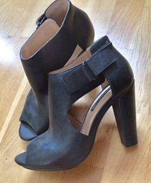 H&M Escarpins à bout ouvert noir cuir