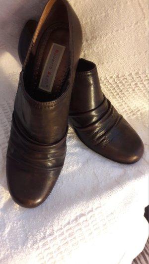 Tacones de plataforma marrón-marrón oscuro Cuero
