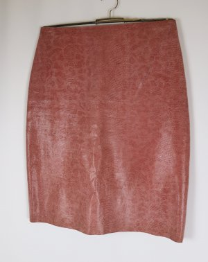 Hennes Collection by H&M Leren rok stoffig roze-roze Leer