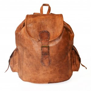 Backpack brown leather