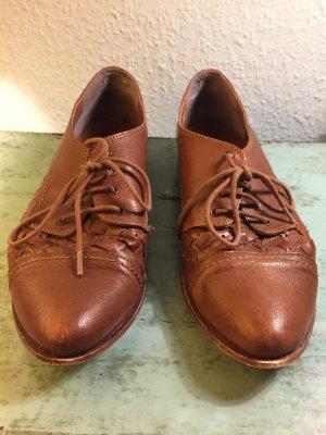 Lace Shoes brown-cognac-coloured