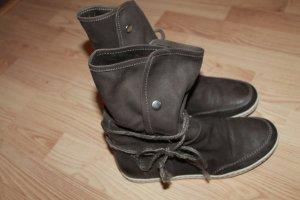 echt Leder Schuhe kurz Stiffel wie neu Größe 37 Braun neu NP 69 Euro