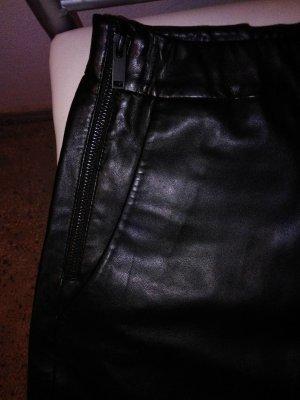 Hallhuber Leren broek zwart Imitatie leer