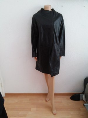 Made in Italy Leather Coat black