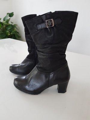 echt Leder Stiefel 37 schwarz