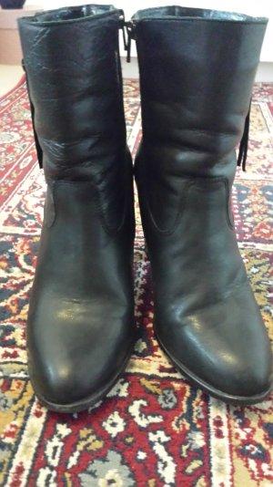 Echt-Leder Stiefel mit seitlichem Reißverschluss