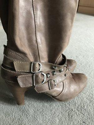 Echt Leder Stiefel taupe Gr.40