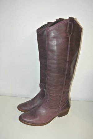 Echt Leder Stiefel Vintage Optik Impressionen hochwertig
