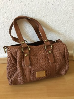 Belmondo Shoulder Bag light brown-bronze-colored leather