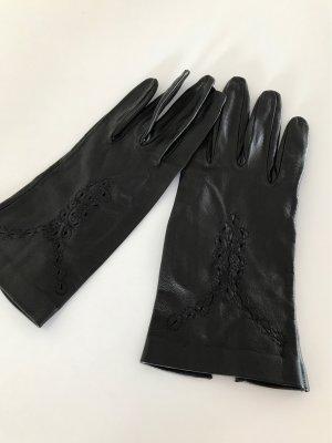 Guantes de cuero negro