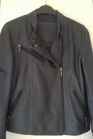 Cigno Nero Veste en cuir bleu foncé-argenté cuir