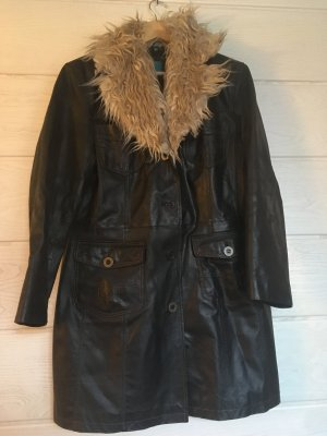 Coolwater Leather Coat light brown-black