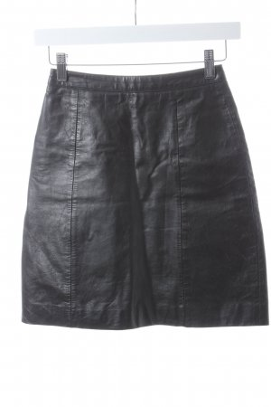 Leather Skirt black leather
