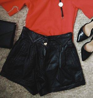 Echt Ledershorts schwarz Vintage