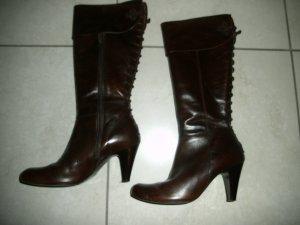 Botas con tacón marrón Cuero