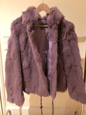 Echt-Pelz Jacke in Lavendel/ Lila/ Rosa