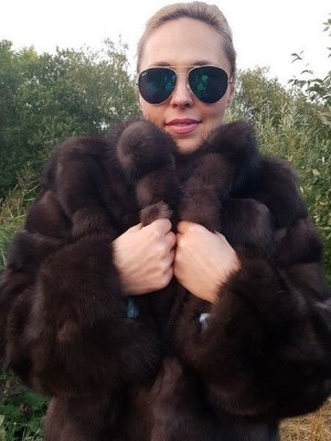Echt Pelz Mantel Barguzin Russian Sable Zobel FUR Coat Zibellino