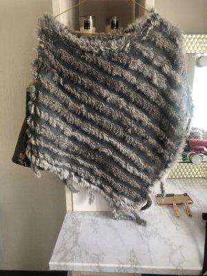 Caban argenté-gris clair