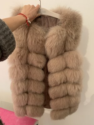 Leather Vest beige