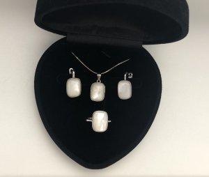 Echt Silber 925 Hochwertige Verarbeitungsqualität Set Neu mit Verpackung
