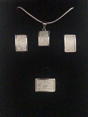 Echt Silber 925 Set Hochwertige Verarbeitungsqualität Neu mit Verpackung