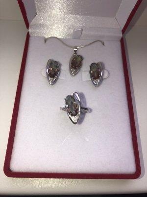 Echt Silber 925 Set Neu mit Verpackung Wechselt Farben HOCHWERTIG