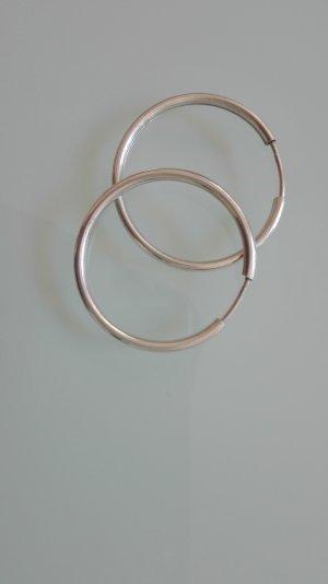 Echt Silber Kreolen Ohrringe