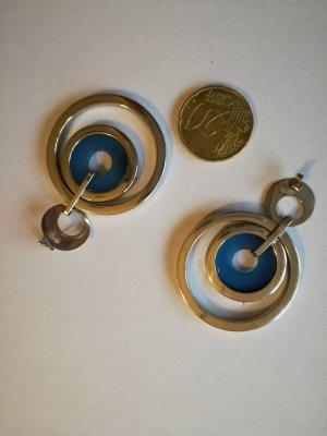 amor Orecchino argento-blu acciaio