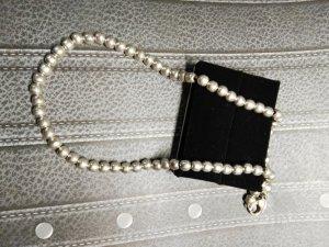 Echt Silber Perlen Kette, 925 er Silber, Bali, glänzend