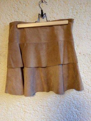 Hallhuber Falda de cuero multicolor Cuero