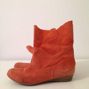 Echt Velours Leder ACES 37 orange rost Slouch Ankle Spring Frühjahr