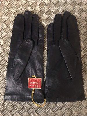 Ledermann Guanto in pelle blu scuro-nero