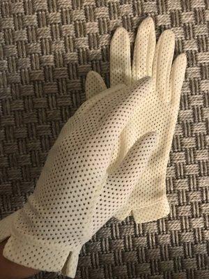 Echt Vintage Kayser 50er Jahre Braut Handschuhe creme beige Nylon 7,5