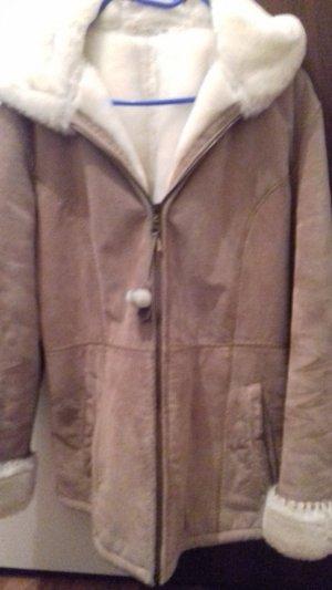 echt wildleder kurz Mantel mit Kapuze