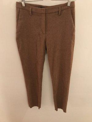 Mango Suit Pantalon à pinces chameau laine