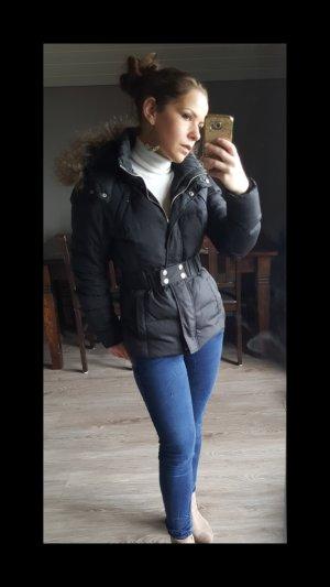 Echtdaunen Parka von Vila Gr S schwarz Pelzjacke Fakefur Mantel Daunenjacke Jacke Anorak Trendjacke