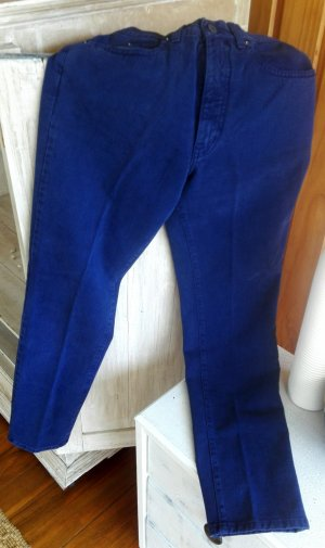 Echte Armani Vintage Jeans, dunkelblau mit geradem Schnitt, hochgeschnitten